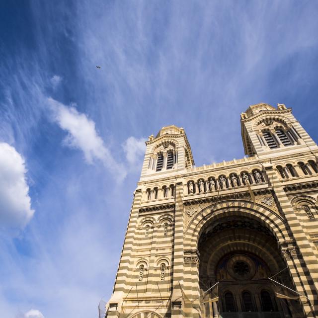 """Cathédrale de la Major, Marseille Cathedral, Marseille,"" stock image"