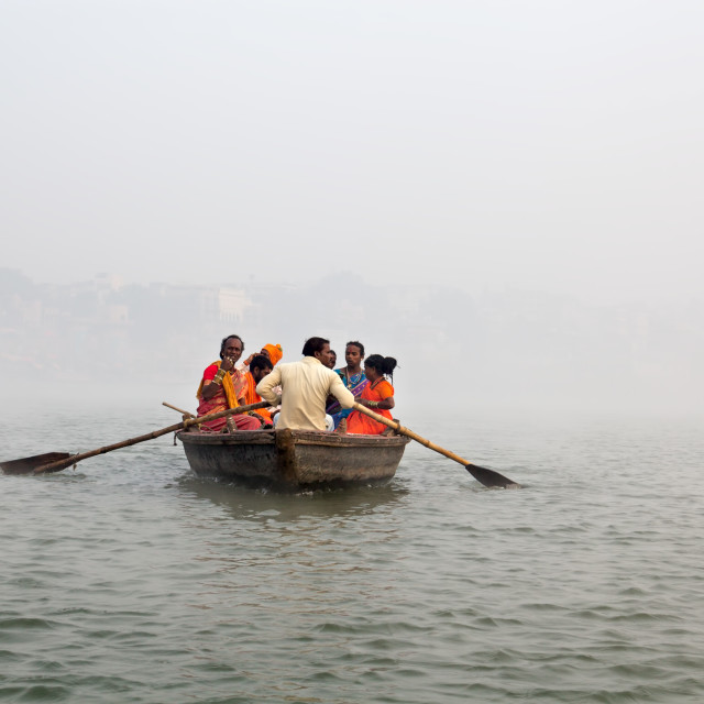 """Boat Ride, Banaras"" stock image"