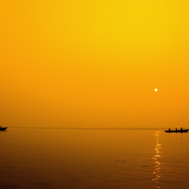 """Ganga Morning"" stock image"