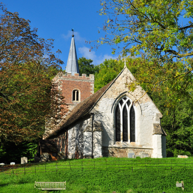"""Arrington Village Church, Cambridgeshire"" stock image"