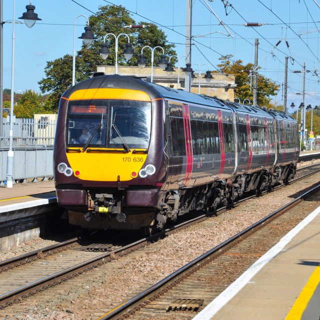 """Class 170 DMU at Ely"" stock image"