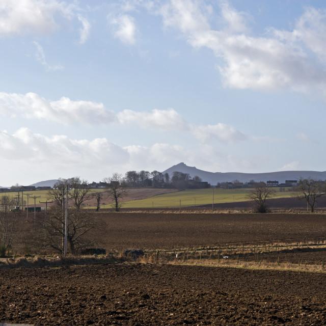"""Garioch Farmland"" stock image"