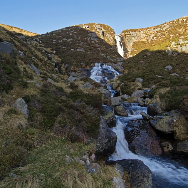 """Glas-allt-Sheil Waterfall"" stock image"