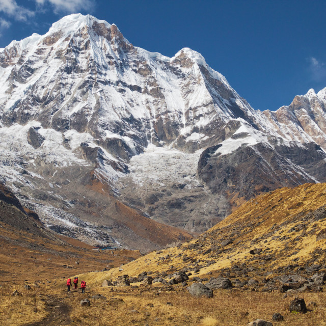 """Annapurna Base Camp"" stock image"