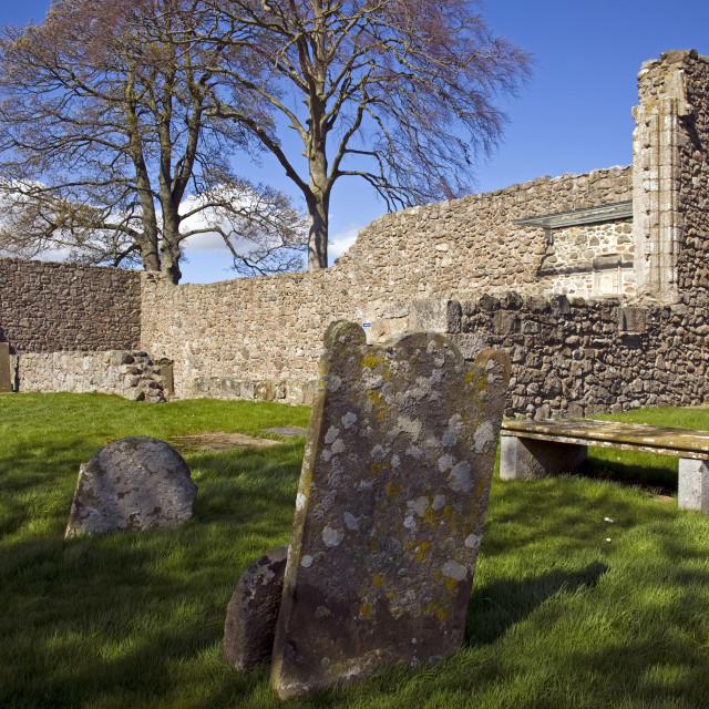 """Kinkell Church Inverurie"" stock image"