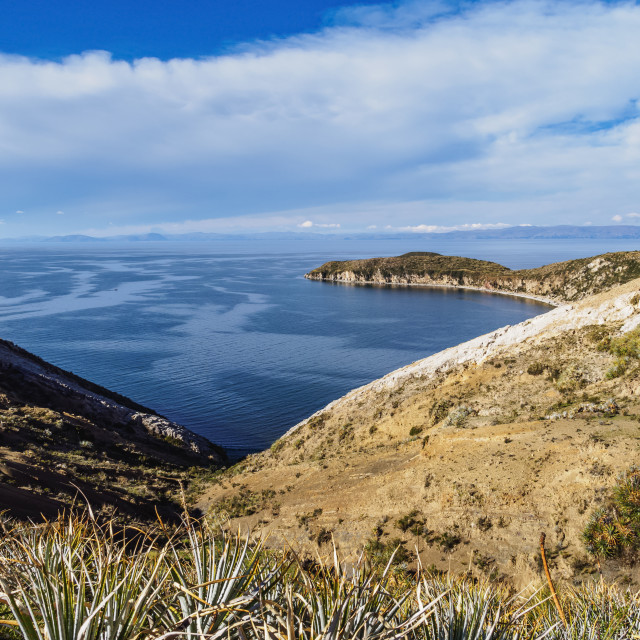"""Island of the Sun, Titicaca Lake, La Paz Department, Bolivia"" stock image"