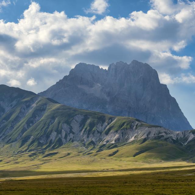 """""""Italy, Abruzzo, Gran Sasso e Monti della Laga National Park, Corno Grande peak"""" stock image"""