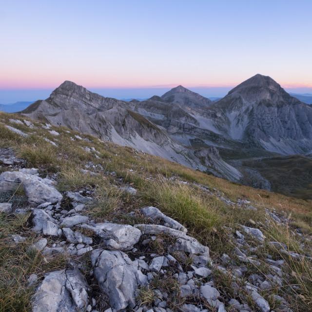 """""""Italy, Abruzzo, Gran Sasso e Monti della Laga National Park, Mountain..."""" stock image"""