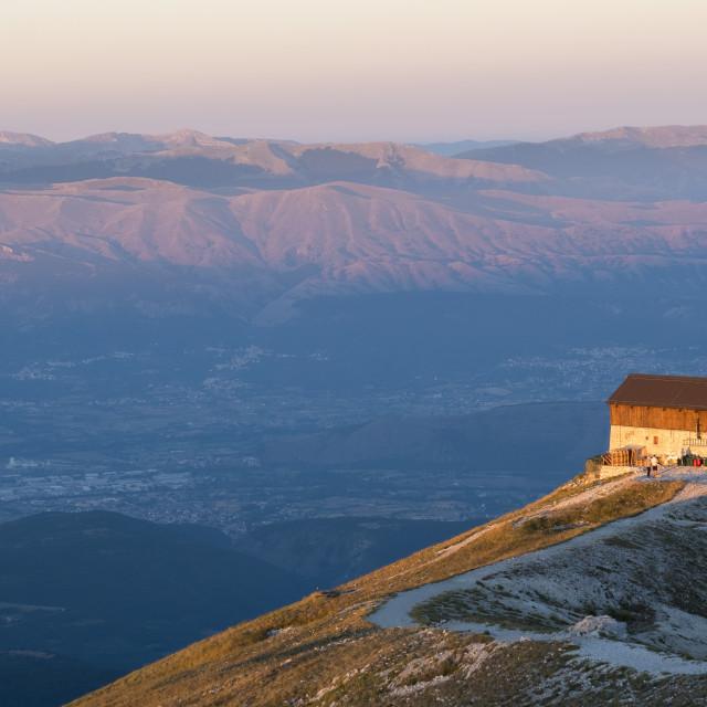 """""""Italy, Abruzzo, Gran Sasso e Monti della Laga National Park, Duca degli..."""" stock image"""