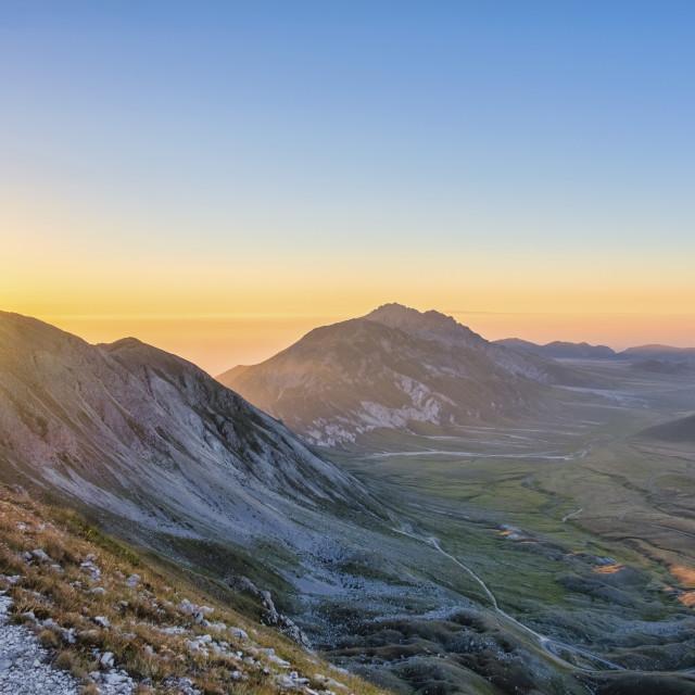 """""""Italy, Abruzzo, Gran Sasso e Monti della Laga National Park, Plateau Campo..."""" stock image"""