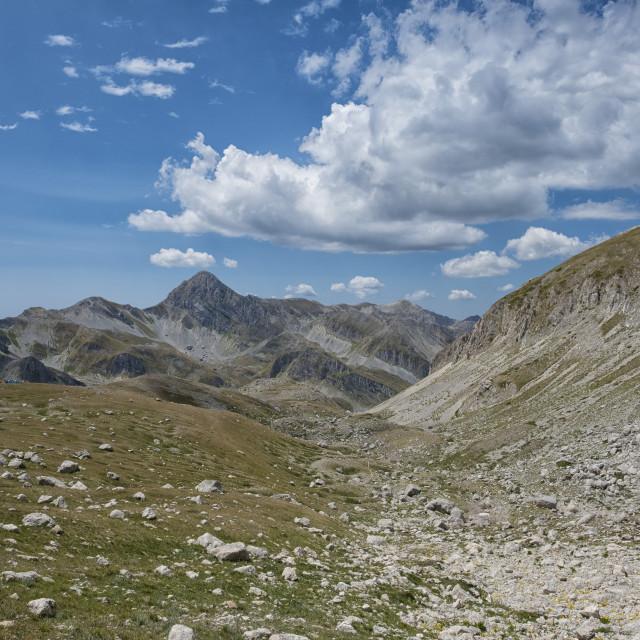 """""""Italy, Abruzzo, Gran Sasso e Monti della Laga National Park, Gran Sasso..."""" stock image"""