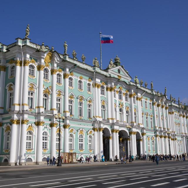 """State Hermitage Museum, St Petersburg, UNESCO World Heritage Site, Russia"" stock image"