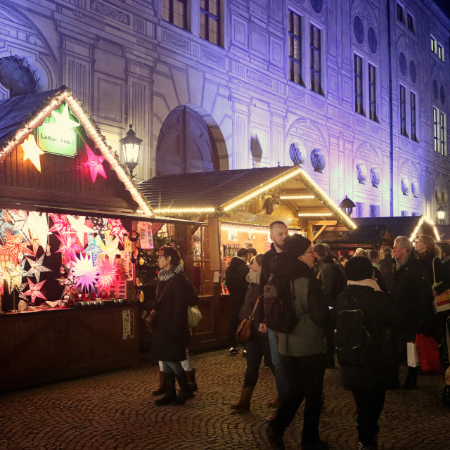 """Munich, Christmas market at Residenz Kaiserhof"" stock image"