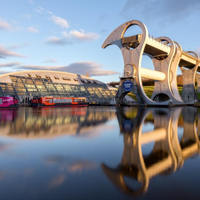 """""""The Falkirk Wheel, Scotland, UK"""" stock image"""