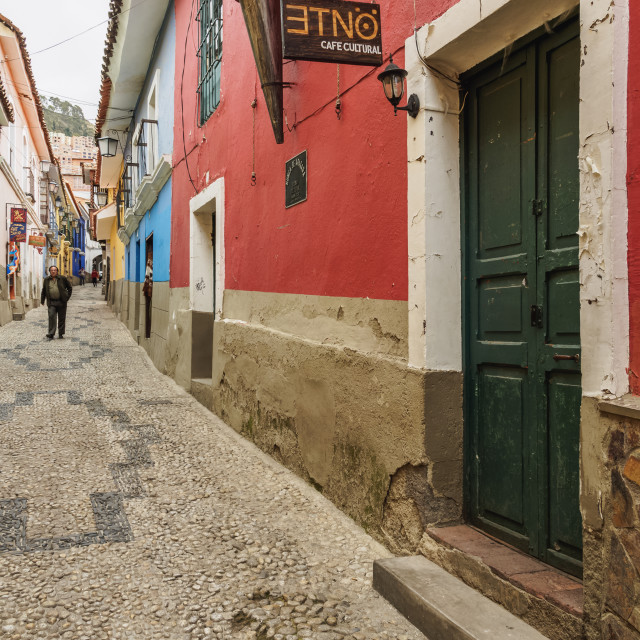"""Calle Jaen, Old Town, La Paz, Bolivia"" stock image"