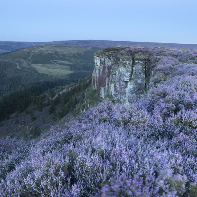 """""""The rocky outcrop of Hasty Bank photographed in twilight. Hasty Bank,..."""" stock image"""