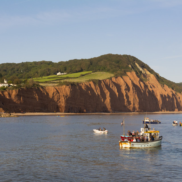 """""""Sandstone cliffs of the Jurassic Coast at Sidmouth, Devon, UK"""" stock image"""