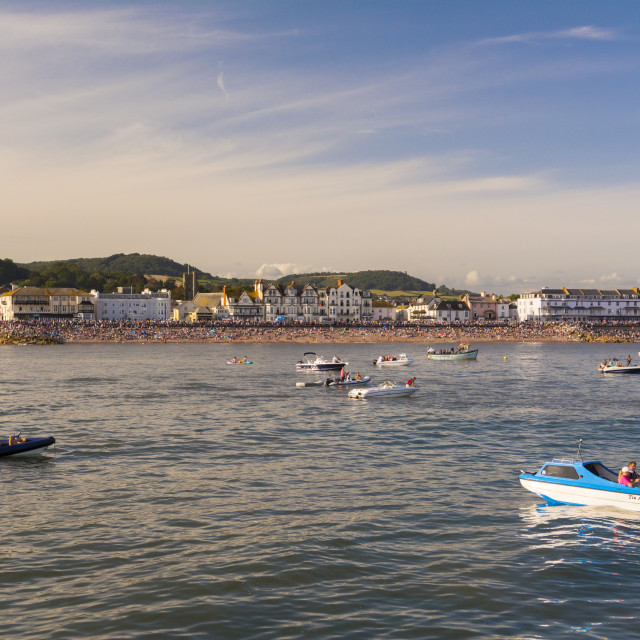 """Sidmouth Regatta, Devon, UK"" stock image"