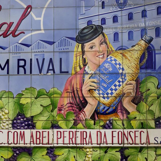 """Advertising tiles,Porto, Portugal"" stock image"