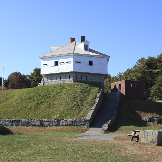 """Fort McClary State Historic Site, Kittery, Kittery Point, Maine, New England,..."" stock image"