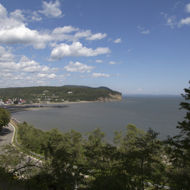 """Coastline seen from Fundy National Park in New Brunswick, Canada, the Bay of..."" stock image"