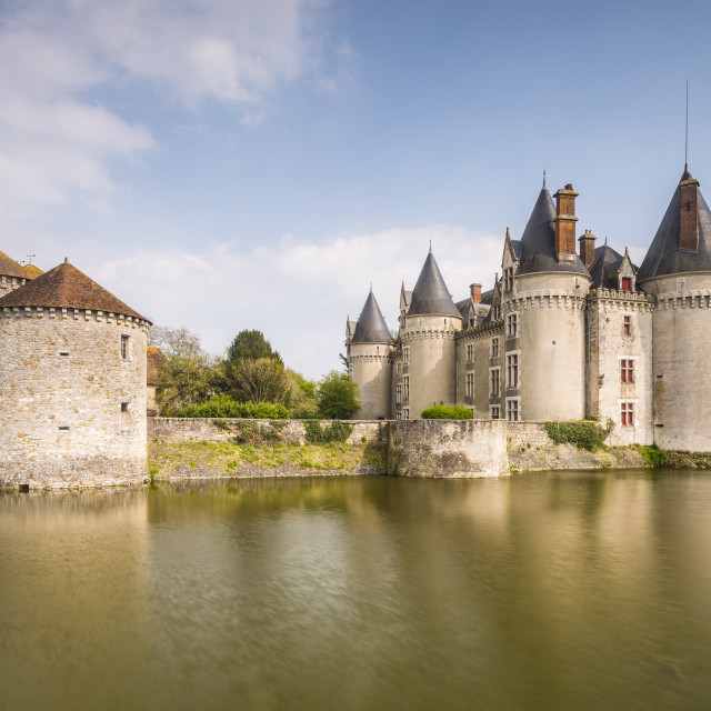 """Chateau de Bourg-Archambault in central France which dates from the 15th..."" stock image"