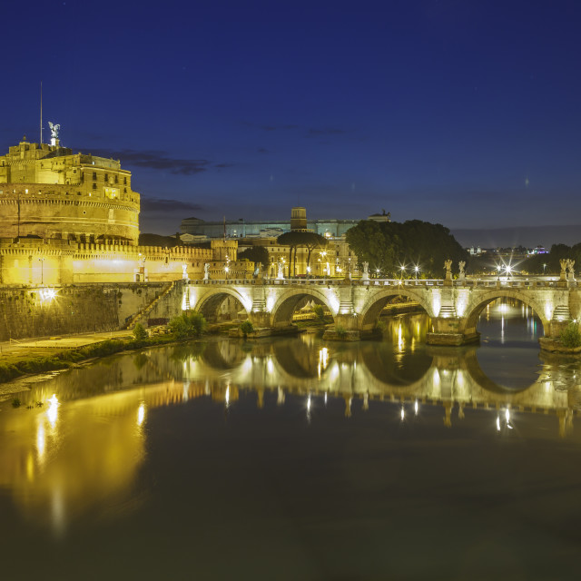 """Castel Sant Angelo and Ponte Sant Angelo, Rome."" stock image"