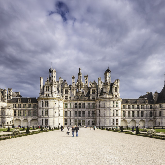 """The chateau of Chambord in France. It is one of the most recognizble castles..."" stock image"