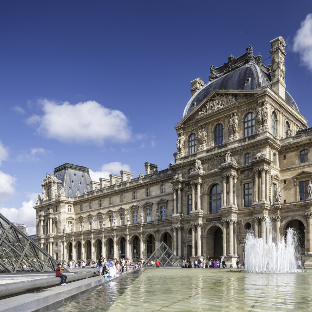 """The Musee du Louvre in Paris, France."" stock image"