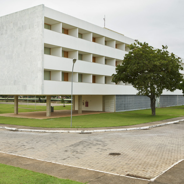 """Brasília Palace Hotel was one of the first buildings completed in the city,..."" stock image"
