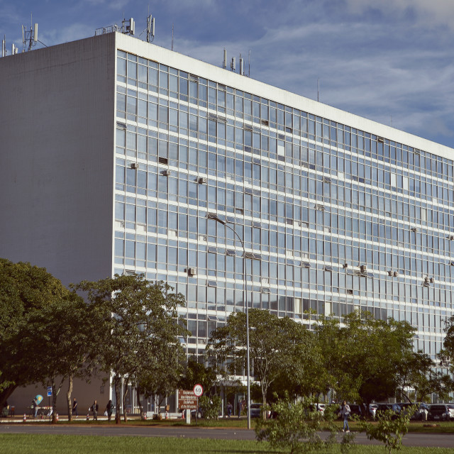 """Brasilia: Standard Ministries designed by Oscar Niemeyer (1958) part of the..."" stock image"