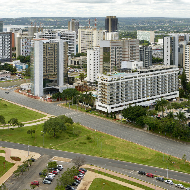 """Brasilia is the federal capital of Brazil and seat of government of the..."" stock image"
