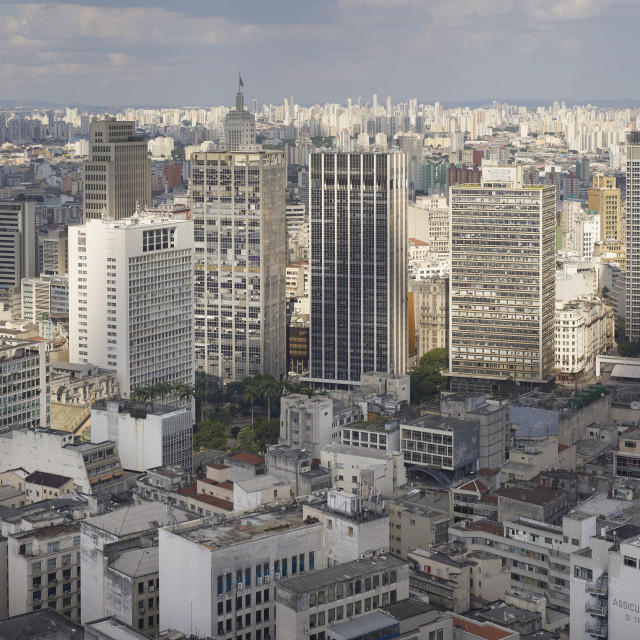 """Centro São Paulo traditionally the highest concentration of skyscrapers, new..."" stock image"