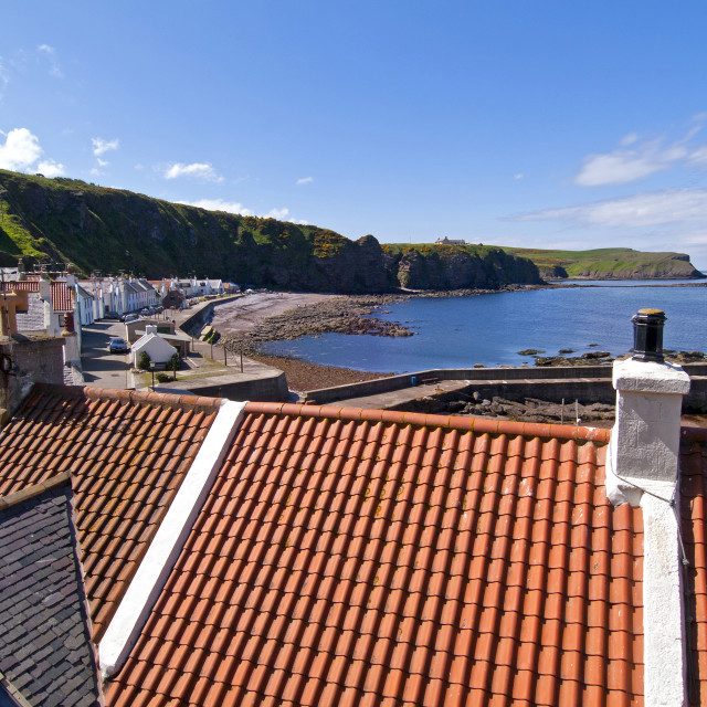 """""""Pennan Rooftops"""" stock image"""