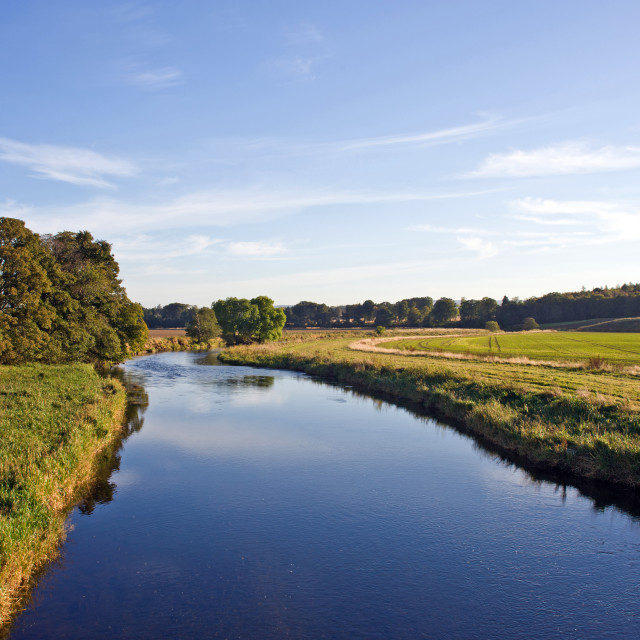 """""""River Don nr Monymusk"""" stock image"""