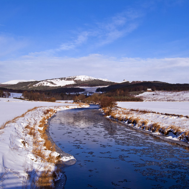 """""""River Don Snow"""" stock image"""