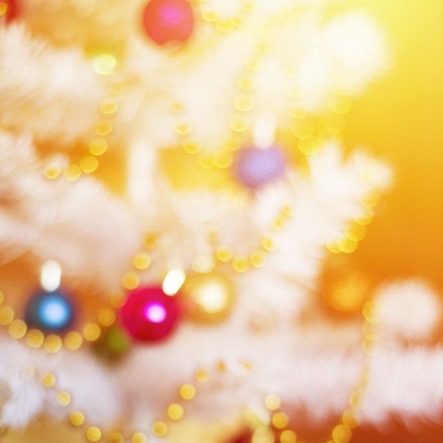 """""""defocused or blured christmas tree with decoration"""" stock image"""