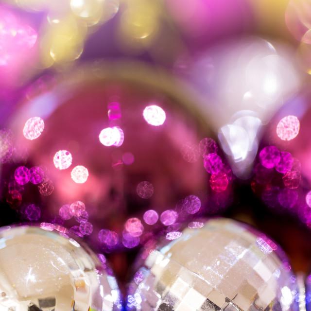 """Festive Baubles"" stock image"