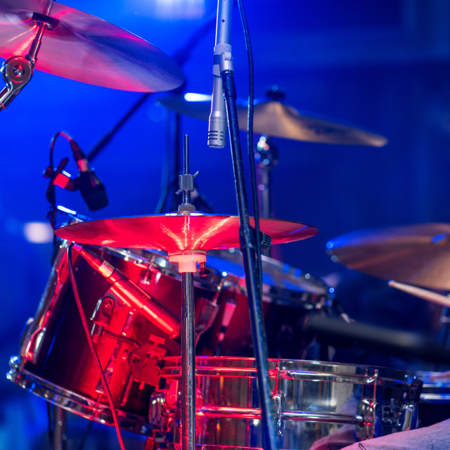 """Drum on stage"" stock image"