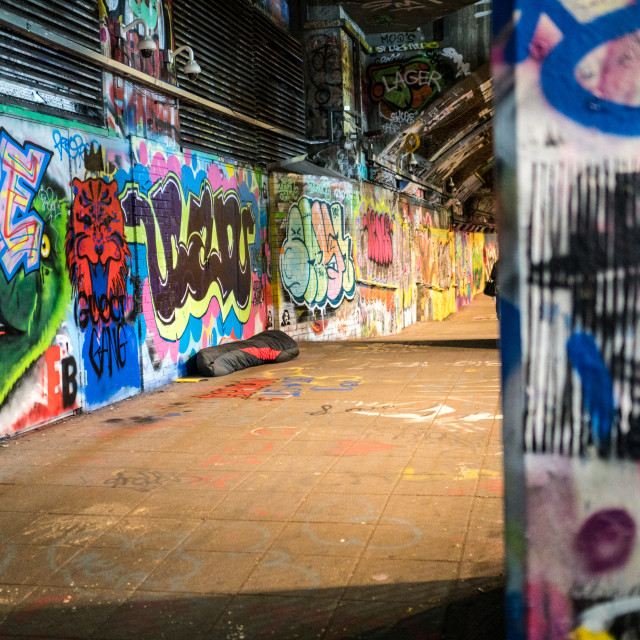 """Leake Street London"" stock image"