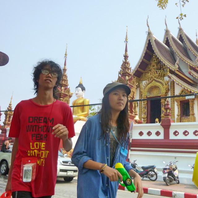 """Songkran Couple"" stock image"