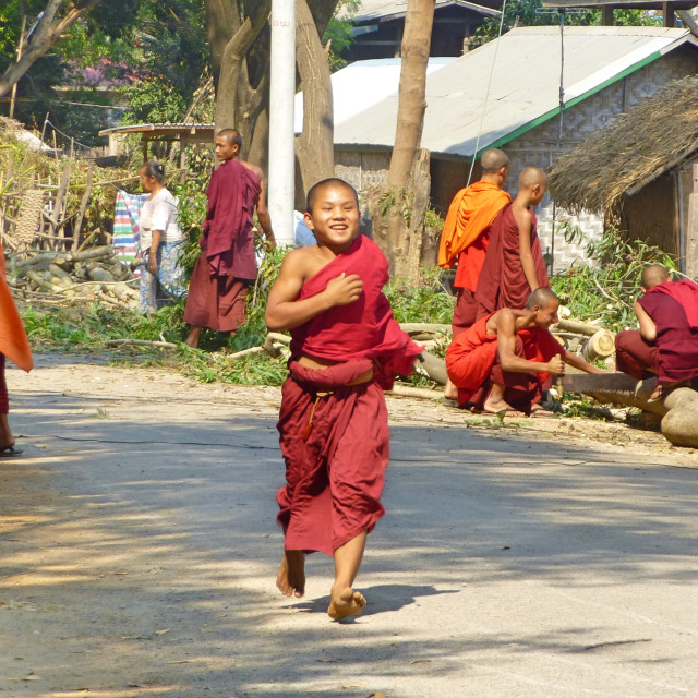 """Running Monk"" stock image"