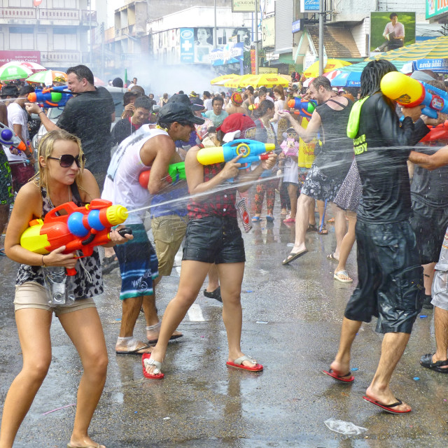"""Water Gun Fight"" stock image"