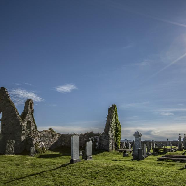 """Balnakeil Cemetery"" stock image"