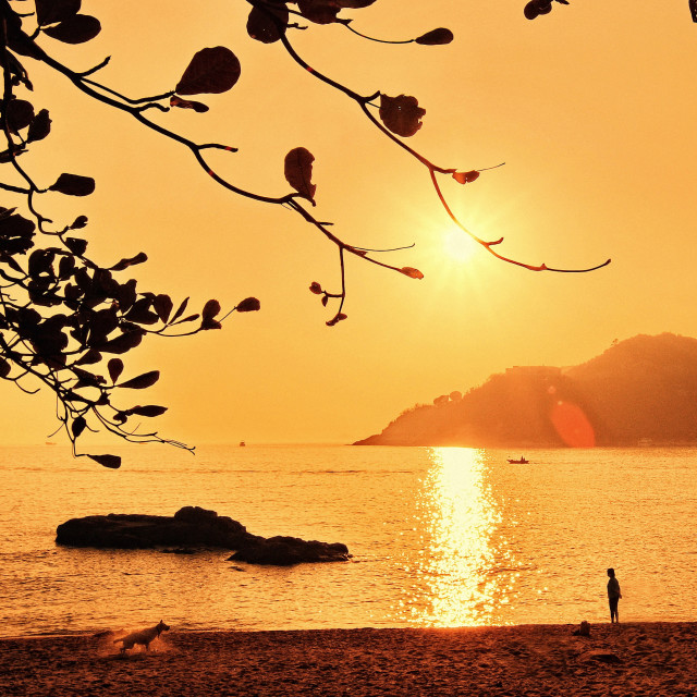 """Stanley Beach, Hong Kong"" stock image"