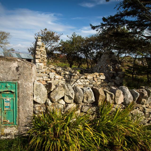 """Vintage Irish post box"" stock image"