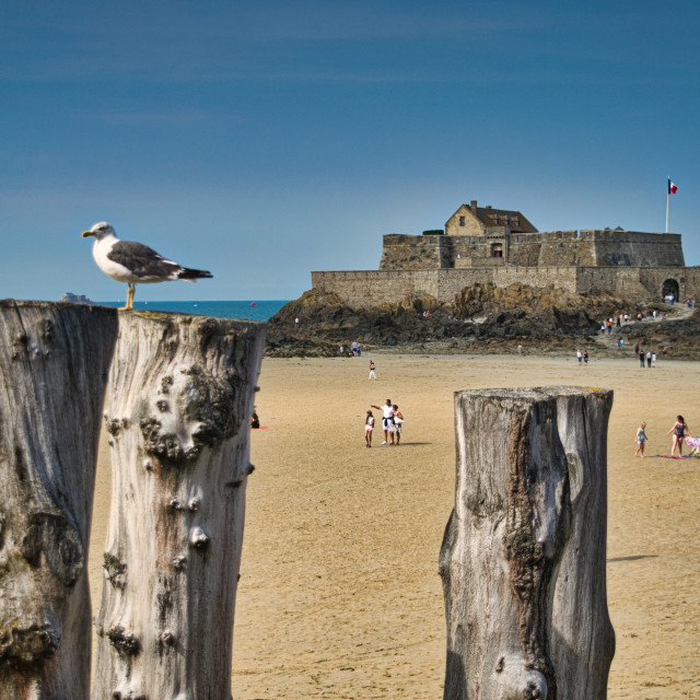 """Saint-Malo, Brittany"" stock image"