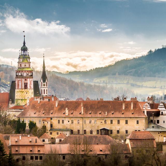 """""""Český Krumlov - Winter 2017"""" stock image"""