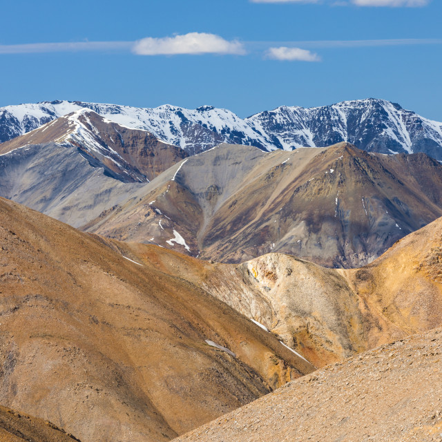 """Endless bare, rugged mountain ridges in the Polychrome Mountain backcountry..."" stock image"
