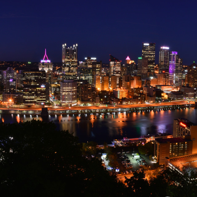 """Pittsburgh Panorama"" stock image"